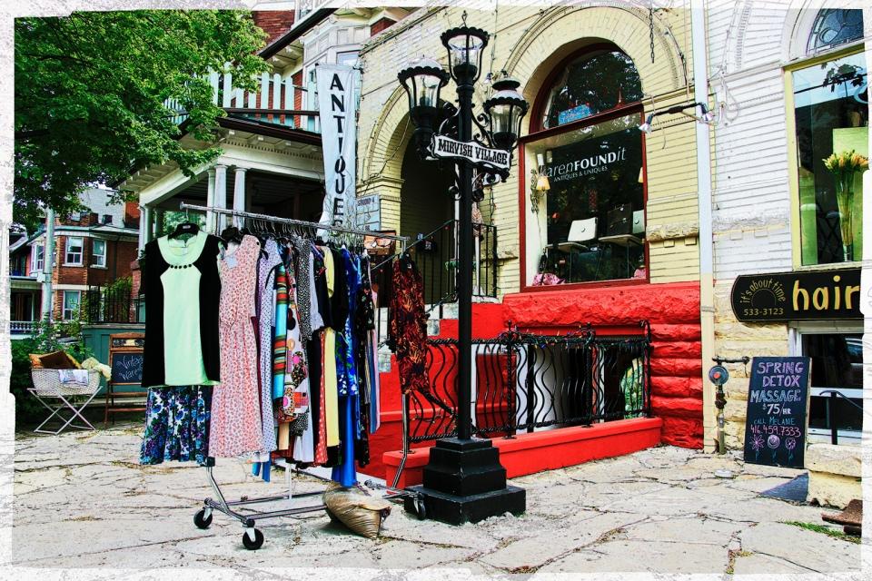 Shops along Markham Street