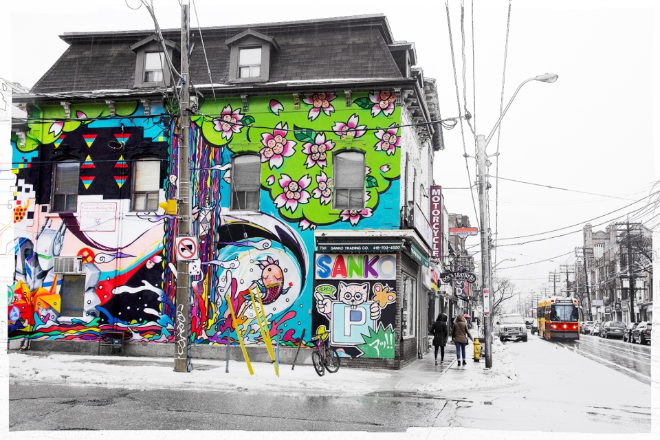 A Rainy April Day Queen St West At Claremont
